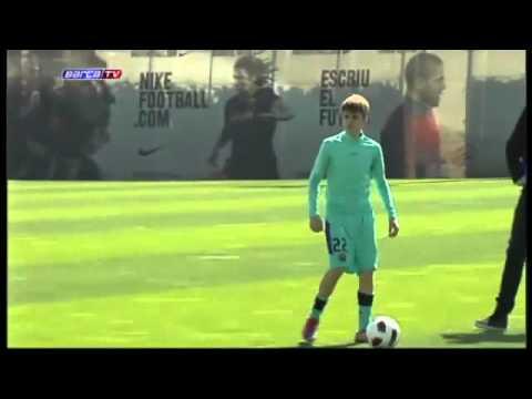 Justin Bieber entrena en Barcelona FC – Justin Biebier Training in BARCELONA