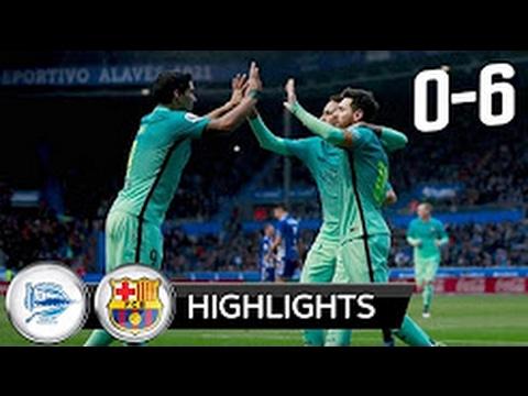 GOLEADA Barcelona Vs D.Alaves 6-0 ! 11/02/2017