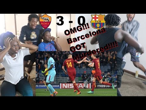 Roma vs Barcelona 3-0 Goals & Highlights Reaction! BARCA FAN CRIED! I CAN'T BELIVE THIS WE LOST!?