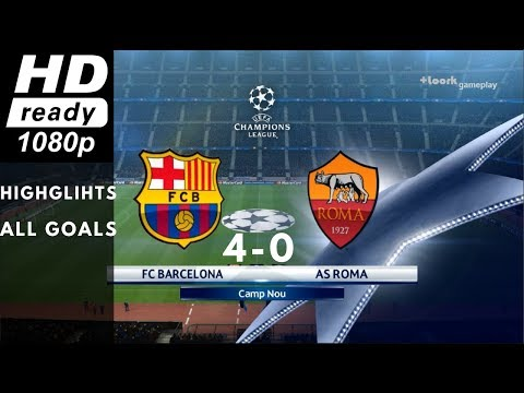 Barcelona vs Roma : 4-0 Highlights | UEFA Champions League | Live Stream 04/04/2018