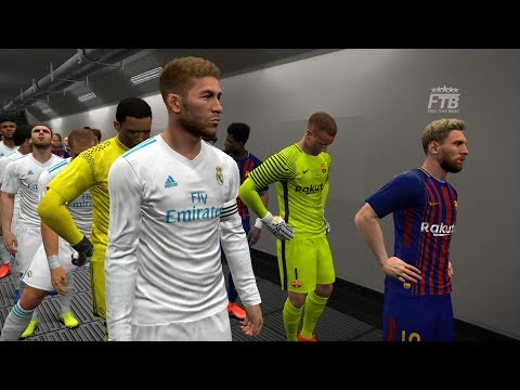 Real Madrid and Barcelona official kits 2017/18 | PES 2017 | Gameplay PC