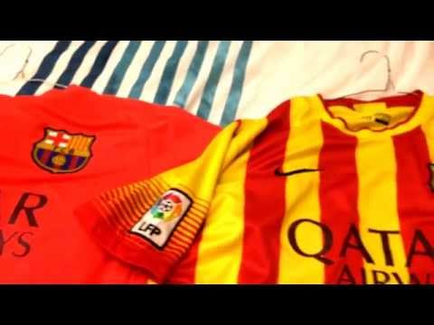 FC BARCELONA – All 4 Official 2014/2015 Kits (Jerseys and shorts)