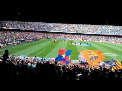 Barcelonas fans chanting …Barca Barca Baaarca !