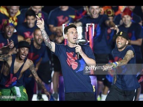 Barcelona 2015 Treble Celebration Speeches – English (Enrique, Xavi, Messi, Alves, Neymar)