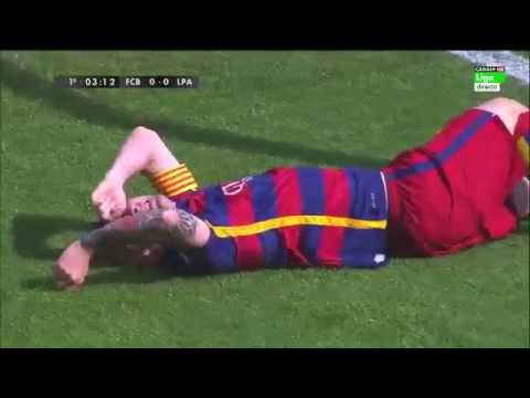Lionel Messi Injury – Barcelona vs Las Palmas 2-1 26/9/2015