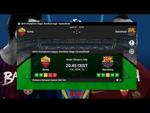 Roma VS Barcelona | LIVE | RADIO | PITCH VIEW | 10.04.2018