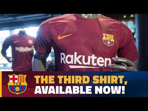 Nike presents dark maroon FC Barcelona third strip for 2017/18 season