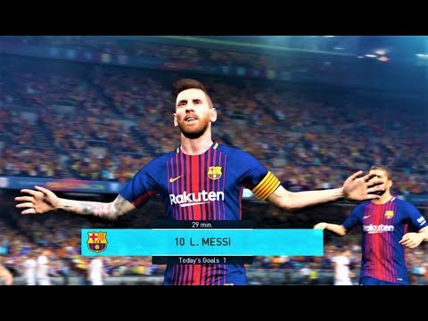 Barcelona vs Alaves | All Goals & Full Match 2018 | PES 2018 Gameplay HD