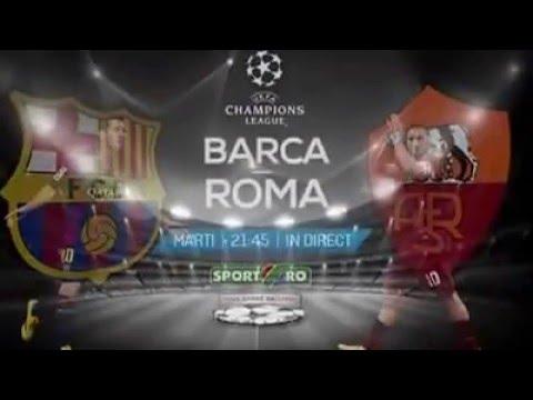 Barcelona – AS Roma e live la Sport.ro, azi de la 21:45