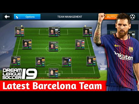 Create Fc Barcelona Team ★ Kits Logo & Players ★ Dream League Soccer 2018