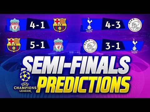 UCL 2018/19 SEMI FINALS PREDICTIONS   🏆UEFA CHAMPIONS LEAGUE 2018/19🏆 BARCA vs LIVERPOOL 3-0 GOALS