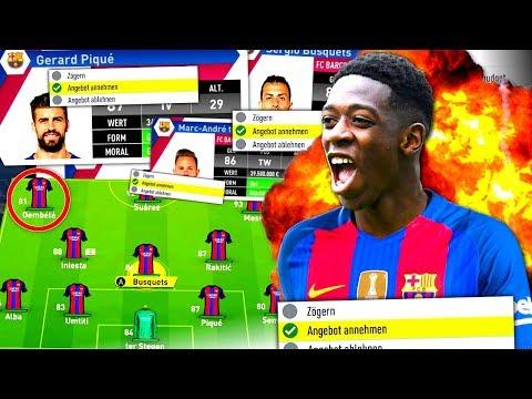 FIFA 17 : JEDEN TRANSFER mit NEUEM FC BARCELONA AKZEPTIEREN !!! 💥🔥🏆 Barcelona Karriere Challenge