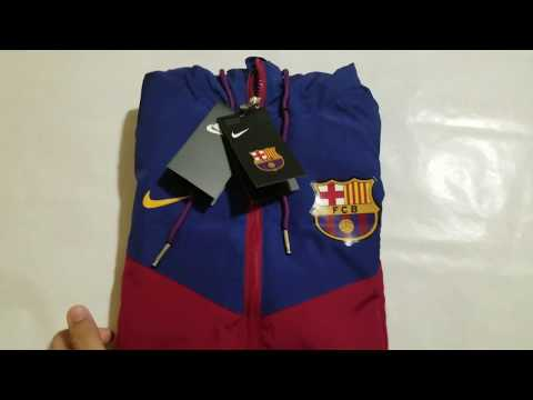FC Barcelona 🔴🔵Red&Blue Windrunner🔥🔥Review- Minejerseys.vip