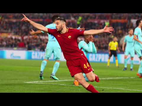 UEFA Champions League: AS Roma/FC Barcelona Italian call of Kostas Manolas quarterfinal winning goal