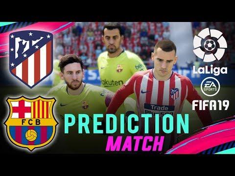 ATLÉTICO MADRID vs BARCELONA | FIFA 19 La Liga Predict Matchday 13 | Broadcast Camera – 1080HD