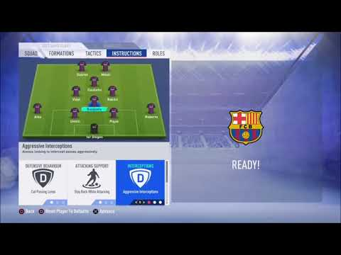 FIFA 19 FC Barcelona review – Best formation, Best tactics and instructions