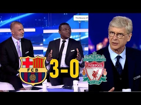 Barcelona 3-0 Liverpool Wenger Full MATCH Analysis AND Reactions