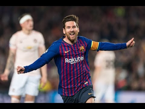 Lionel Messi Scores Two Goals and Dazzles In Champions League Quarterfinals | Game Highlights