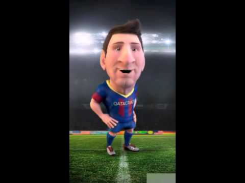 Mini messi with barca's chant