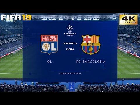 FIFA 19 (PC) Lyon vs Barcelona   UEFA CHAMPIONS LEAGUE ROUND OF 16   19/2/2019   4K 60FPS