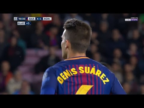 Denis Suarez vs Roma (Home) (UCL) 17-18 HD 720p by Kleo Blaugrana