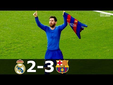 Real Madrid vs Barcelona 2-3 – La Liga 2016/2017 – Highlights (English Commentary)