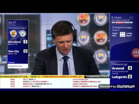 Sky Sports Presenters React To Lionel Messi Hatrick Vs Manchester City