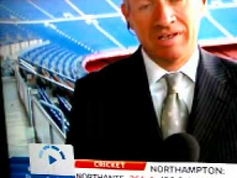 Cat seen on sky sports news at Barcelona