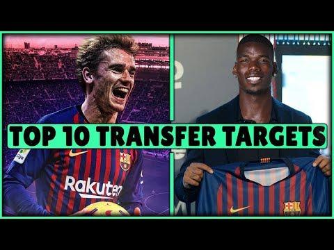 FC Barcelona TRANSFER Targets 2019 (TOP 10) Transfer News ft. Pogba & de Ligt