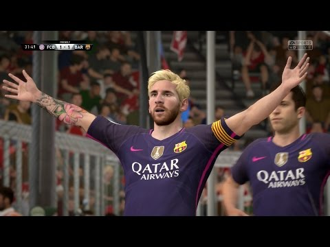 FIFA 17 | FC Bayern Munich vs FC Barcelona – Full Gameplay (PS4/Xbox One)