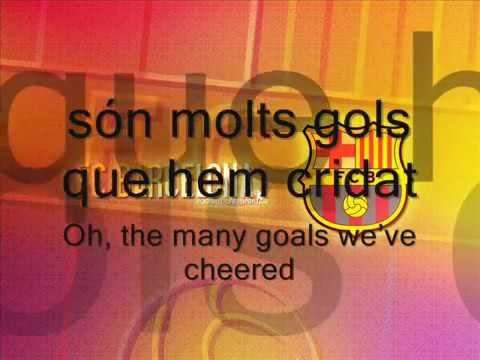 FCBarcelona Song with Lyrics   Anthem English Catalan   YouTube 3