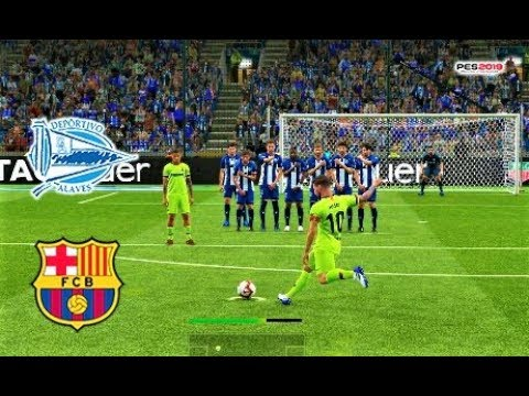 Alaves vs Barcelona | L. MESSI Free Kick Goal & Full Match 2019 | PES 2019 Gameplay HD