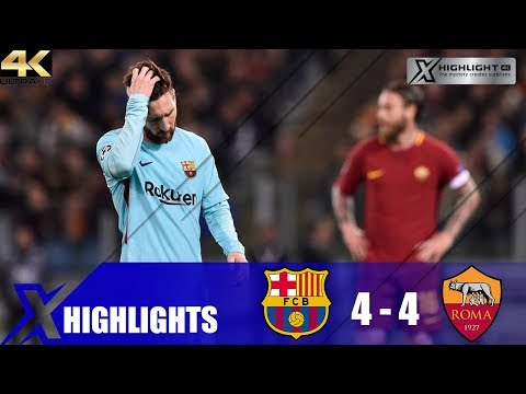 Barcelona vs AS Roma 4-4 Extended Highlight & All Goals – UCL Quarter Final 2018 – UHD 4K