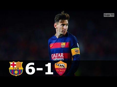 Barcelona vs Roma 6-1 – UCL 2015/2016 – Highlights