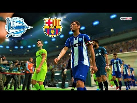 Deportivo Alaves vs Barcelona | Full Match & All Goals 2019 | PES 2019 Gameplay HD