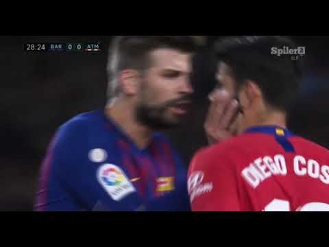Diego Costa RED CARD – Barcelona vs Atletico Madrid 06/04/2019 HD