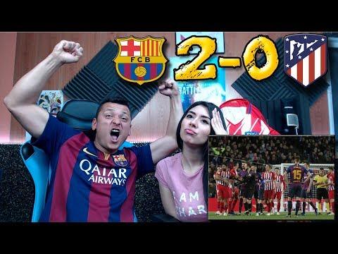 REACCIÓN DE UNOS HINCHAS (CON MI NOVIA) FC BARCELONA VS ATLÉTICO DE MADRID 2-0