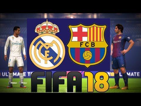 "REAL MADRYT VS FC BARCELONA | FIFA 18 ""POJEDYNKI ONLINE"" HOGATY VS BARTEK #02 [PL/PC]"