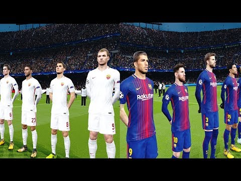 Barcelona vs AS Roma | UEFA Champions League 04/04/2018 Gameplay
