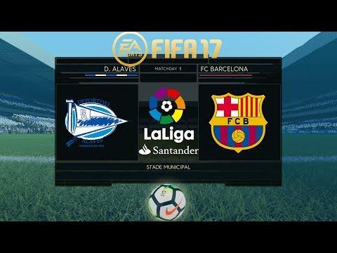 FIFA 17   Alaves vs Barcelona   La Liga 2017/18   PS4 Full Match