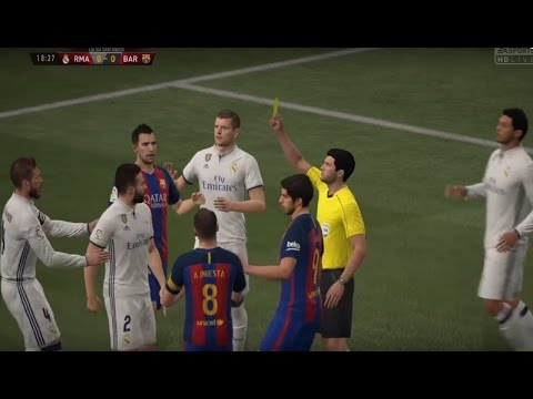 REAL MADRID vs FC BARCELONA MATCH SIMULATION + LIVE COMMENTARY