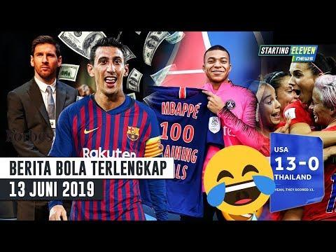USA vs THAI 13 – 0 😂 Messi Pemain Terkaya Dunia 2019 🔥 Di Maria Ke Barca 😱 Rekor 100 Mbappe -Bola