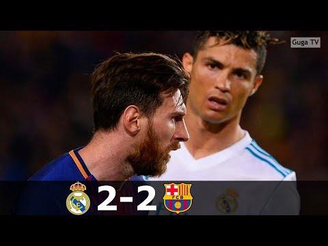 Barcelona vs Real Madrid 2-2 – La Liga 2017/2018 – Highlights (English Commentary)