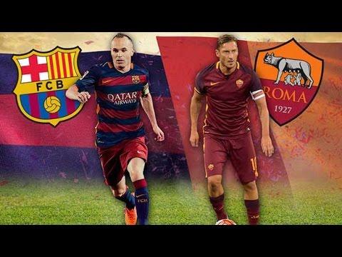 Fifa 16 Fc Barcelona Vs Roma 6-1 simulacion UEFA Champion League HD 24/11/2015
