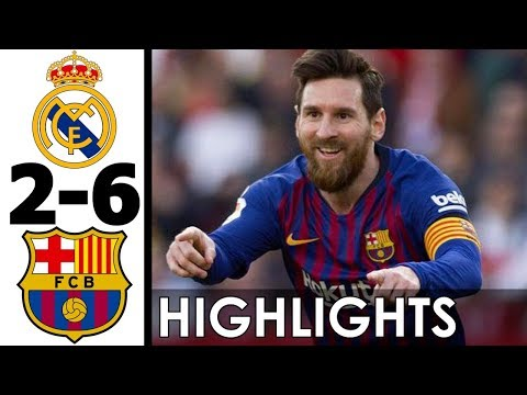 Real Madrid vs FC Barcelona 2-6 Goals and Highlights w/ English Commentary (Last 2 Bernabéu Matches)