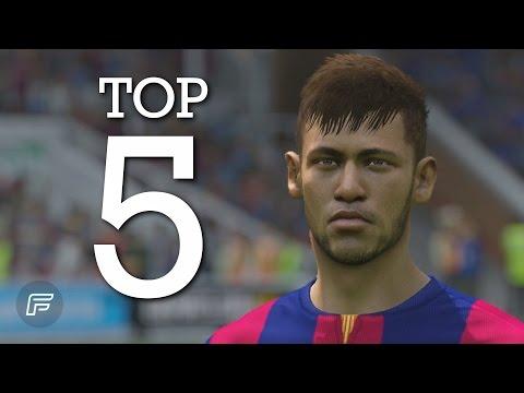 Neymar Jr. – Top 5 Goals for Barcelona 2014/15 (FIFA 15 Remake)