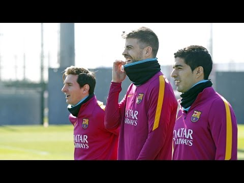 FC Barcelona training session: Final touches before hosting Getafe