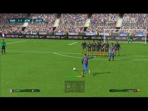 PES 2017 | Barcelona vs Atletico Madrid | Full Match & Messi Free Kick Goal | Gameplay PC