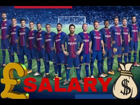 Barcelona Players Per Week Wage 2018{by All in he List}