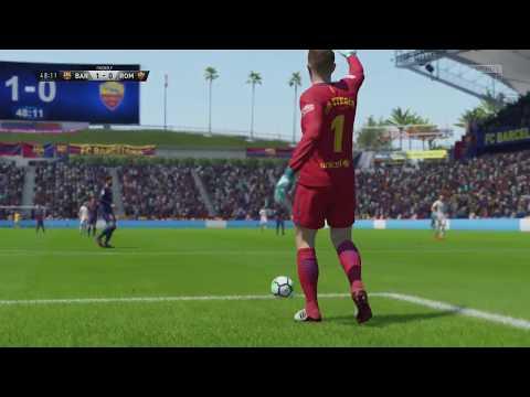 International Champions Cup 2018 FC Barcelona vs AS Roma – Full Match Sim (FIFA 18)